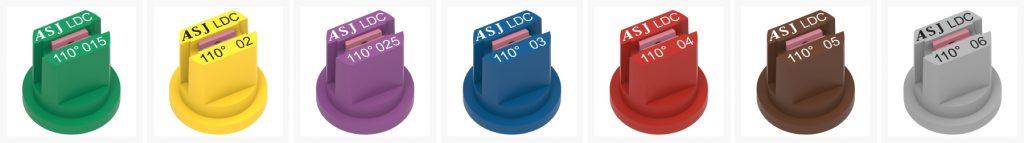 ASJ Nozzle - Fan low drift nozzles certified LDC